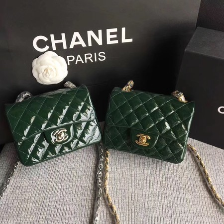 Chanel Classic Flap mini Bag Original Leather A1115 Green