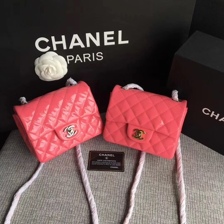 Chanel Classic Flap mini Bag Original Leather A1115 Pink