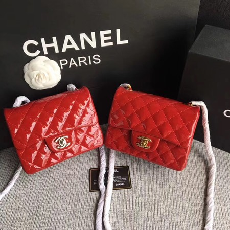 Chanel Classic Flap mini Bag Original Leather A1115 Red