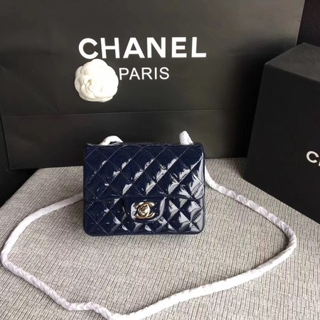 Chanel Classic Flap mini Bag Original Leather A1115 Royal