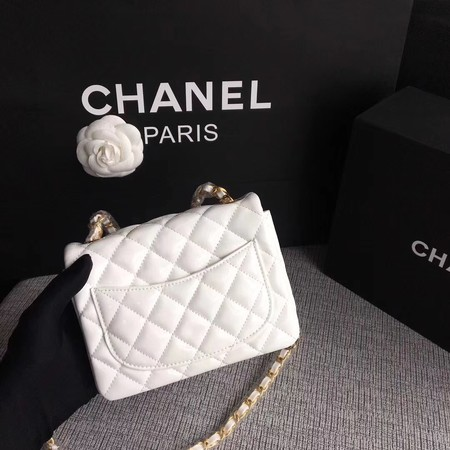 Chanel Classic Flap mini Bag Original Leather A1115 White