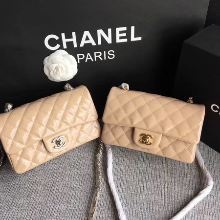 Chanel Classic Flap mini Bag Original Leather A1117 Apricot