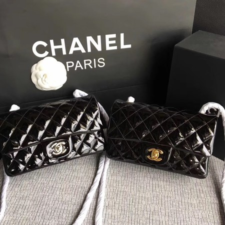 Chanel Classic Flap mini Bag Original Leather A1117 Black