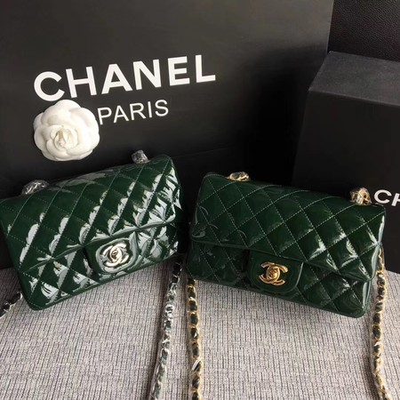 Chanel Classic Flap mini Bag Original Leather A1117 Green