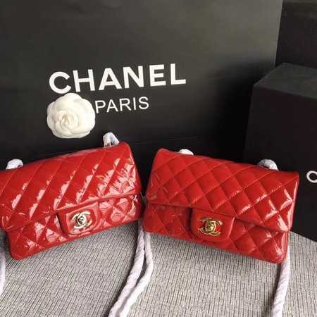 Chanel Classic Flap mini Bag Original Leather A1117 Red