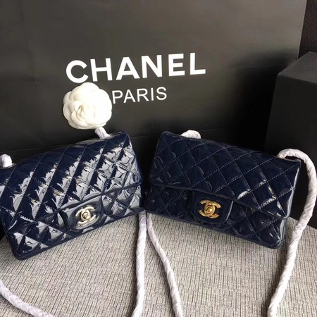 Chanel Classic Flap mini Bag Original Leather A1117 Royal