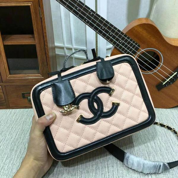 Chanel Calfskin Leather Shoulder Bag 6070 Pink
