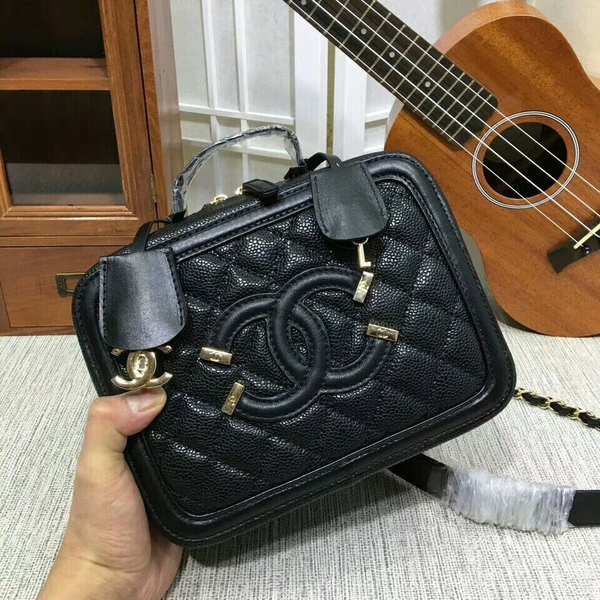 Chanel Calfskin Leather Mini Shoulder Bag 6070 Black