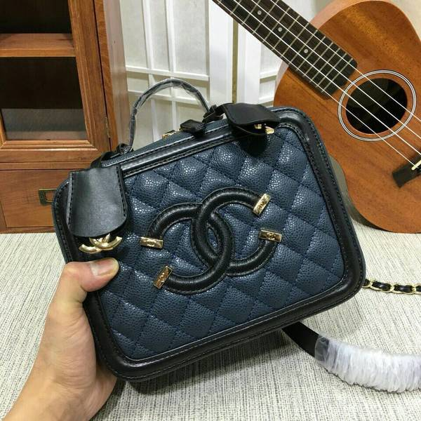 Chanel Calfskin Leather Mini Shoulder Bag 6070 Blue