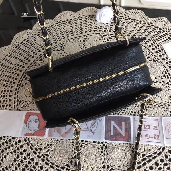 Chanel Caviar Calfskin Leather Tote Bag 18004 Black