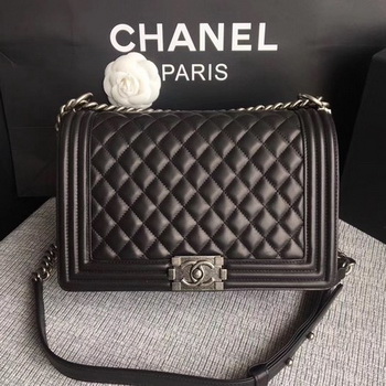 Boy Chanel Flap Bags Original Sheepskin Leather A67088 Black