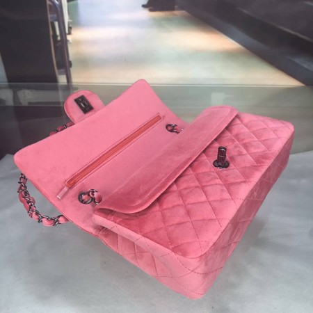 Chanel 2.55 Series Flap Bags Original Velet A1112 Pink