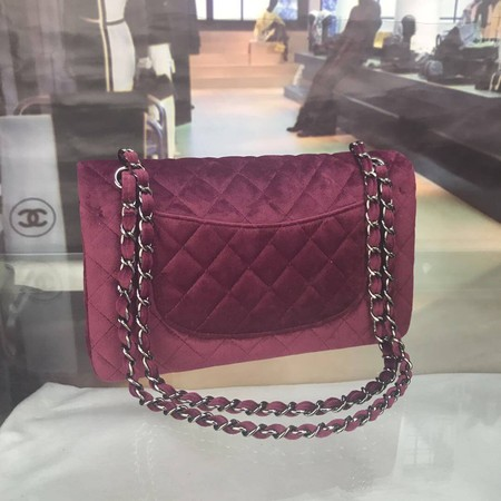 Chanel 2.55 Series Flap Bags Original Velet A1112 Purple