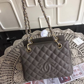Chanel Coco Cocoon Leather Bag A18004 Grey