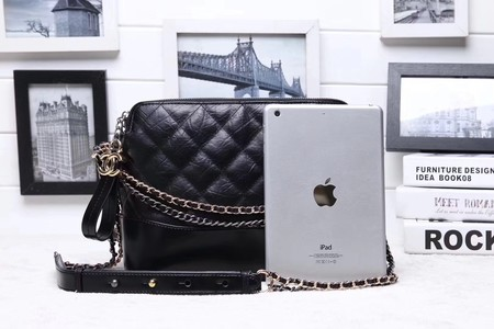 Chanel Shoulder Bag Calfskin Leather A95623 Black