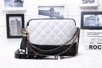 Chanel Shoulder Bag Calfskin Leather A95623 White