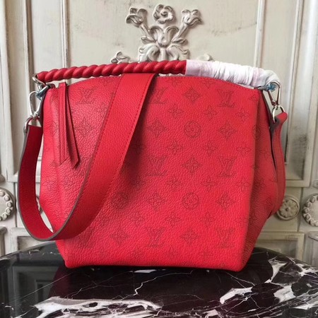 Louis Vuitton Mahina Leather BABYLONE CHAIN BB M51223 Red
