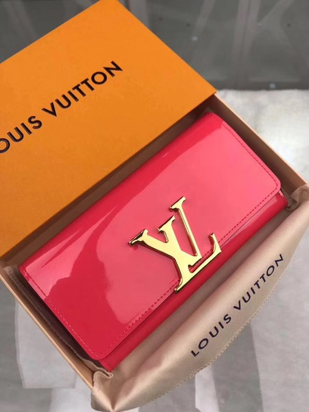 Louis Vuitton Patent Calf Leather LOUISE WALLET M64550 Pink