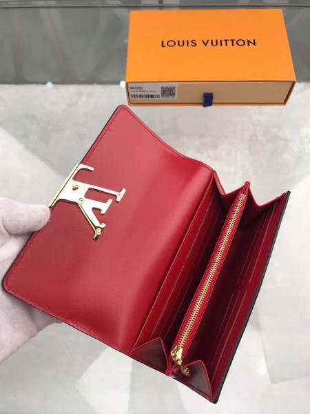 Louis Vuitton Patent Calf Leather LOUISE WALLET M64550 Red
