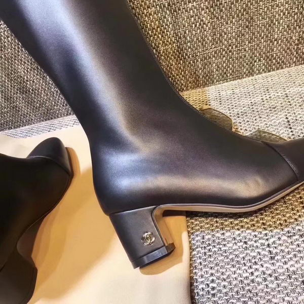 Chanel Knee Boot CH2255 Black