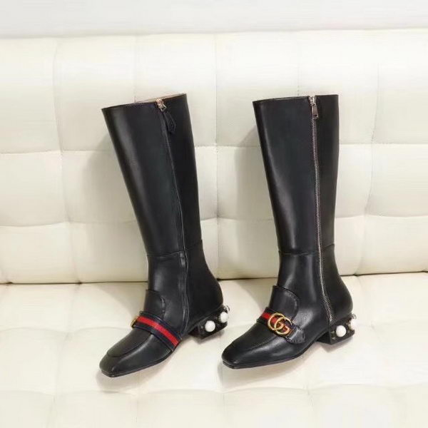 Gucci Knee Boot GG1287 Black