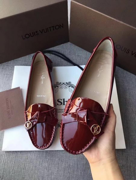 Louis Vuitton Leather Loafer LV8316 Wine
