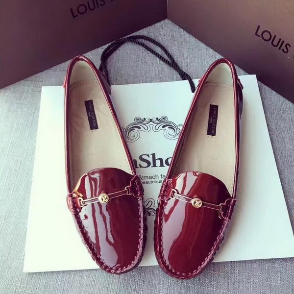 Louis Vuitton Leather Loafer LV8317 Wine