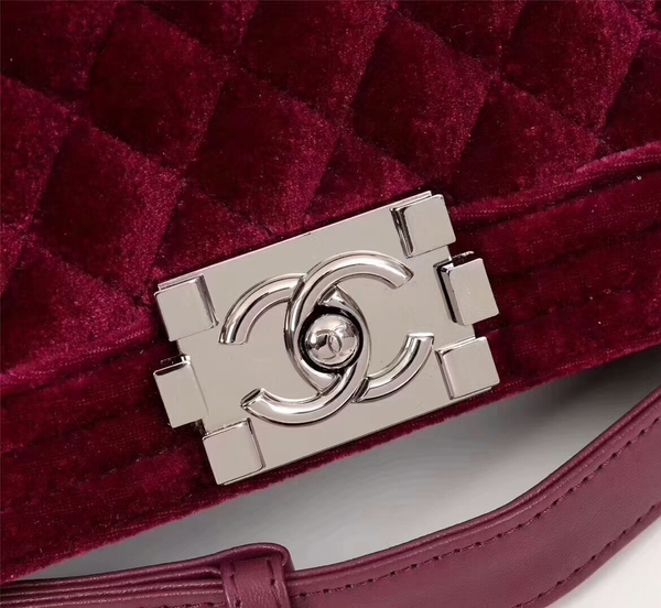 Chanel Le Boy Suede Leather Bag 67086 Red