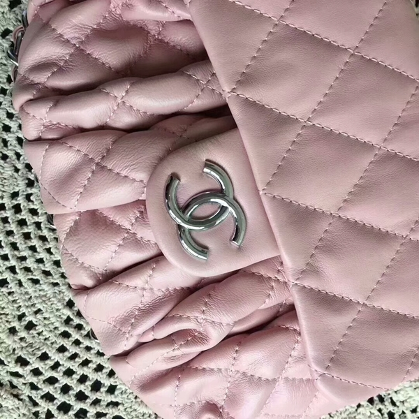 Chanel Falp Shoulder Bag Sheepskin Leather 8006A Pink