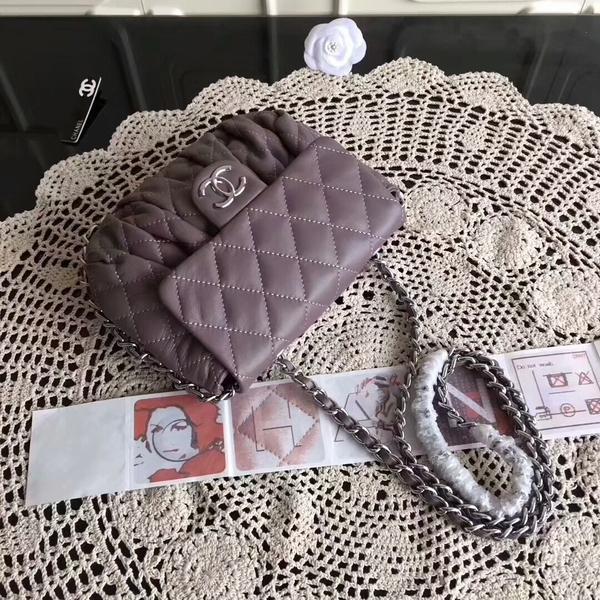 Chanel Falp Shoulder Bag Sheepskin Leather 8006A Purple