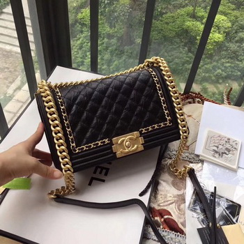 Boy Chanel Flap Bag Original Leather B67086 Black