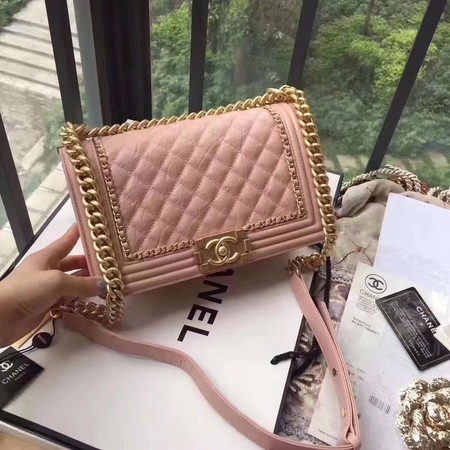 Boy Chanel Flap Bag Original Leather B67086 Pink