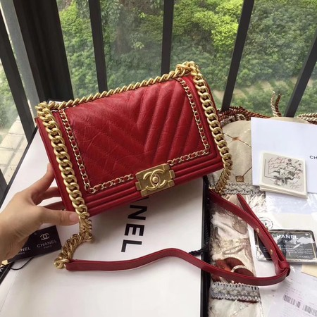 Boy Chanel Flap Bag Original Leather B67086 Red