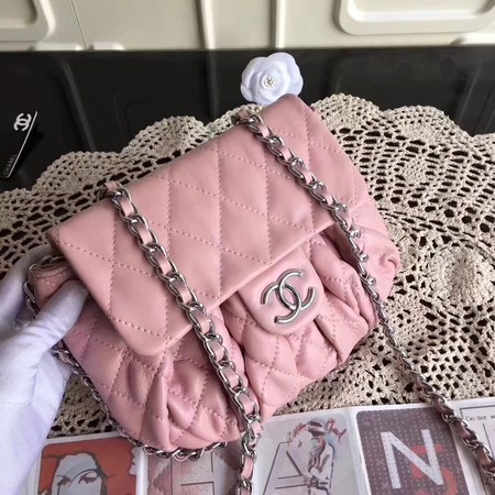 Chanel Classic Flap Bag Sheepskin Leather A33658 Pink