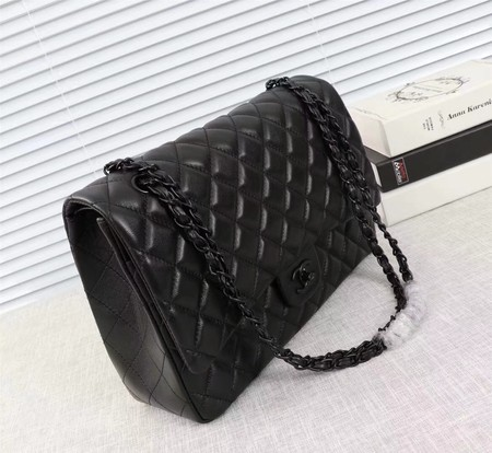 Chanel Maxi Classic Flap Bag Sheepskin Leather A58601 Black