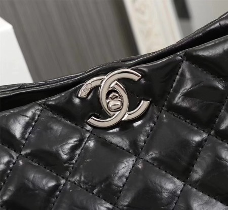 Chanel Shoulder Bag Calfskin Leather A33655 Black