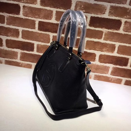 Gucci Calf Leather Soho Top Handle Bag 308362 Black