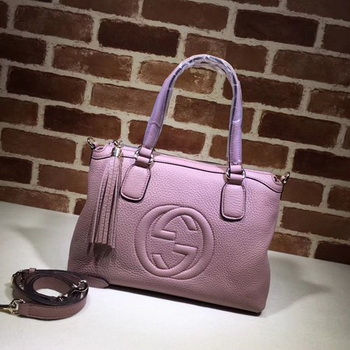 Gucci Calf Leather Soho Top Handle Bag 308362 Pink