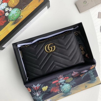 Gucci GG Marmont mini Chain Bag 443447 Black