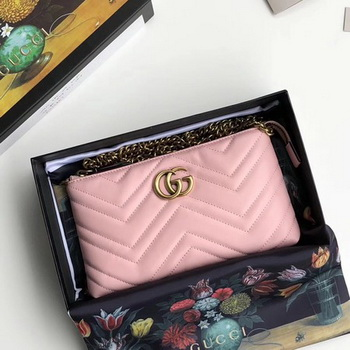 Gucci GG Marmont mini Chain Bag 443447 Light Pink