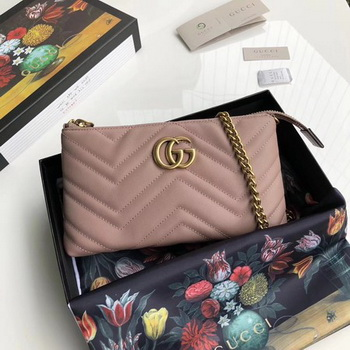 Gucci GG Marmont mini Chain Bag 443447 Pink