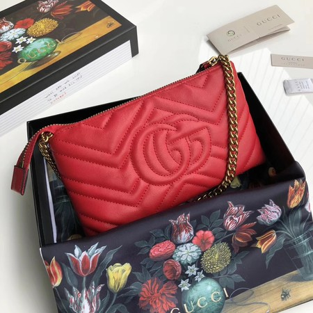 Gucci GG Marmont mini Chain Bag 443447 Red