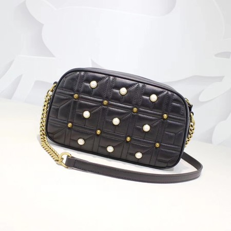 Gucci GG Marmont Small Shoulder Bag 447632 Black
