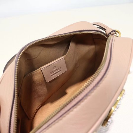 Gucci GG Marmont Small Shoulder Bag 447632 Pink