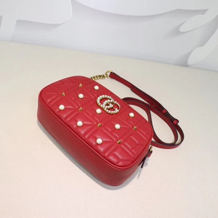 Gucci GG Marmont Small Shoulder Bag 447632 Red