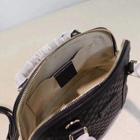 Gucci Signature Leather Top Handle Bag 449654 Black