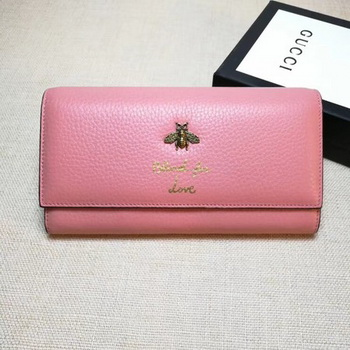 Gucci Animalier Continental Wallet 454070 Pink