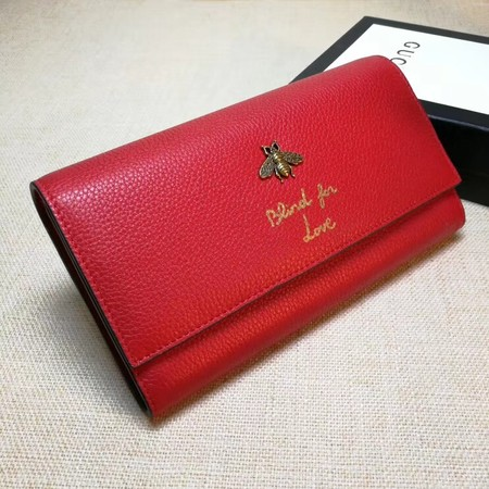 Gucci Animalier Continental Wallet 454070 Red
