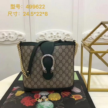 Gucci Dionysus Medium Bucket Bag 499622 Green