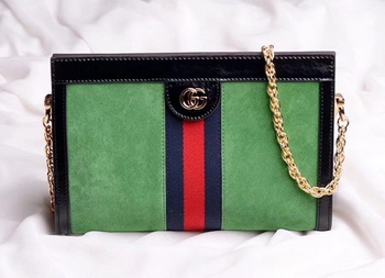 Gucci Ophidia Embroidered Medium Shoulder Bag 503876 Green